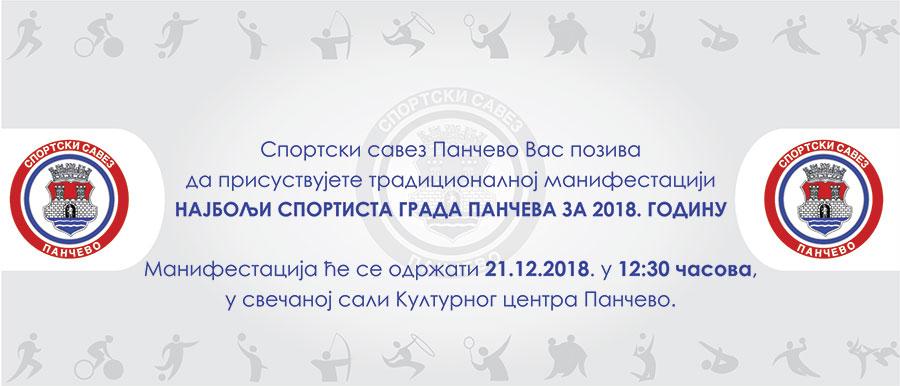 Najbolji sportista grada Pančeva za 2018. godinu